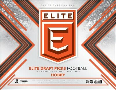 2018 Panini Elite Collegiate Draft Picks Football Hobby 5 Pack Box (Sealed)