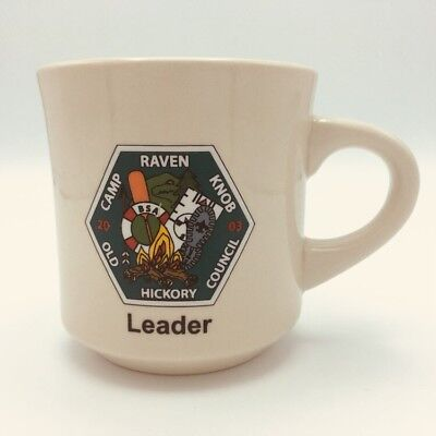Boy Scouts Camp Raven Knob Leader Coffee Cup Mug BSA Old Hickory Council 2003