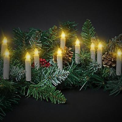 10 x Wireless LED Flameless Christmas Tree Battery Light Candles Remote Control