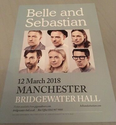 Belle and Sebastian @ The Bridgewater Hall Manchester 2018 A5 Promotional Flyer