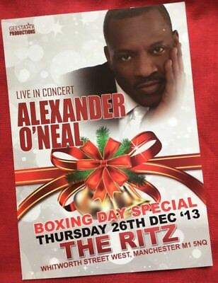 Alexander O'Neal @ The Ritz Manchester Boxing Day 2013 Promotional Tour Flyer