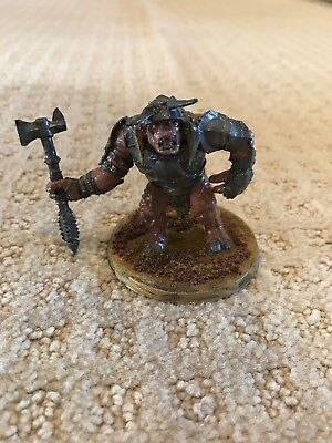 Lord of the Rings Metal Mordor Troll Chieftain And Troll Lotr Gw Games Workshop