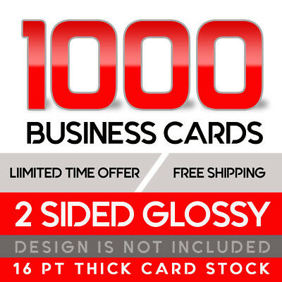 1000 Business Cards - Full Color W/ Your Artwork Ready To Print - 2 Sided Glossy