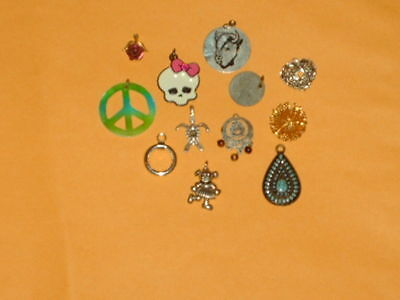 Estate sale jewelry lot of 12 vintage to now pendants for necklaces