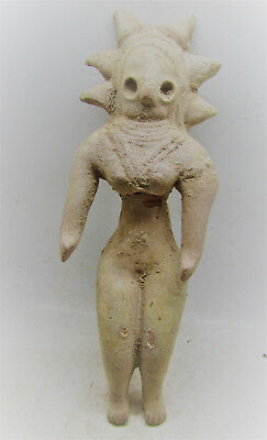 Finest Circa 2000Bce Ancient Indus Valley Harappan Terracotta Fertility Idol.