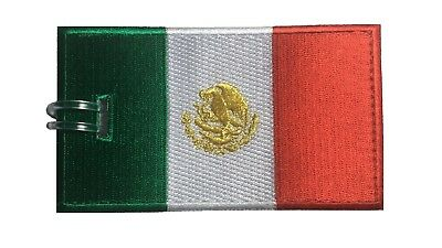 Mexico Flag Embroidered Luggage Tag (NEVER BREAKS!)