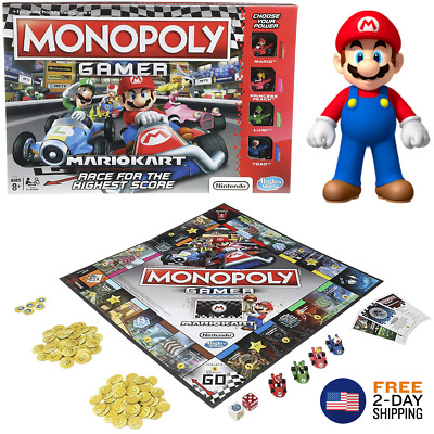 New Monopoly Gamer Mario Kart Family Board Games Fun Playing Party Friends