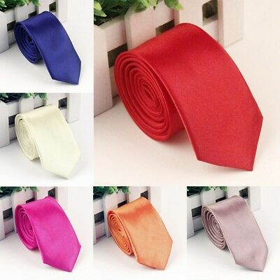 New Style Fashion Mens Ties Satin Solid Necktie Formal Classic Color Tie Good