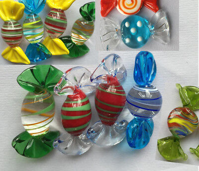 12pcs beautiful Vintage  Glass Sweets Wedding Party Candy Christmas Decorations