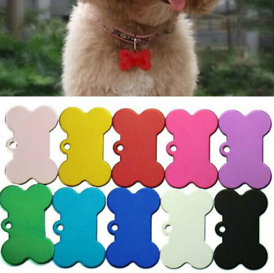 10PC Cat Dog Tag Personalized ID Name Plate Custom Engraved Phone Number Address