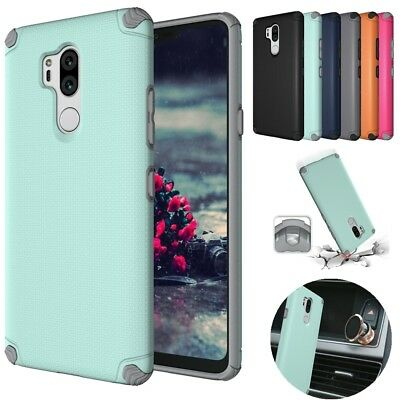 For LG G7 ThinQ Shockproof Armor Magnetic Rugged Slim Rubber Hard Case Cover