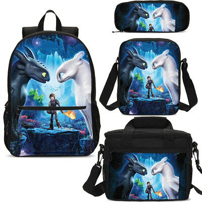 How to Train Your Dragon Backpack Schoolbag Xmas Gifts Lunch Tote Wholesale Case