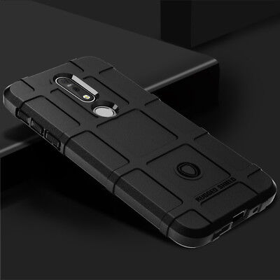 For Nokia 7.1 Shockproof Armor Slim Rugged Rubber Soft TPU Hard Phone Case Cover