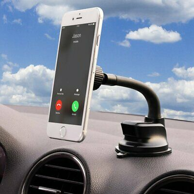 Mpow Car Phone Mount Magnetic Windshield Long Arm Phone Holder For iPhone Black