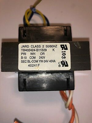 jard class 2 hvac evcon tyco furnace transformer 240/ 24v tb402424-b11b29