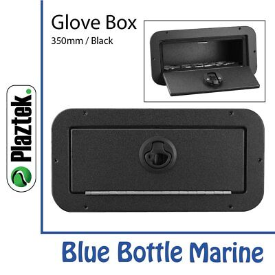 NEW Plaztek Glove Box Black, black, piano hinge from Blue Bottle Marine