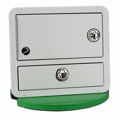 Plaztek Tackle Tray & Drawer Storage Combo 3 Tray Wide White + S/Steel + pian...