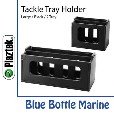 NEW Plaztek Tackle Tray Holder Large Vert 2 Tray from Blue Bottle Marine