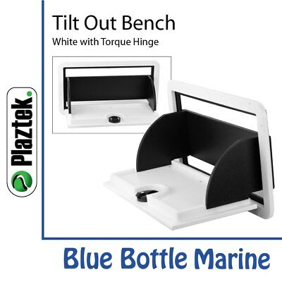Plaztek Tilt-Out Bench White + Black & torque hinge