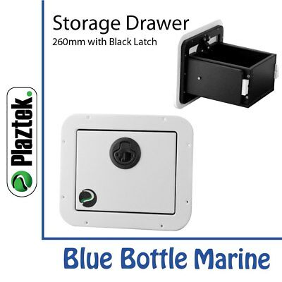 NEW Plaztek Storage Drawer 260mm White & black from Blue Bottle Marine