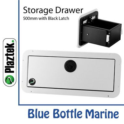 NEW Plaztek Storage Drawer 500mm White & black from Blue Bottle Marine