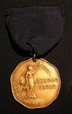 1910's READING EAGLE NEWSPAPER ATHLETIC SPORTS MEDAL PA - NICE!