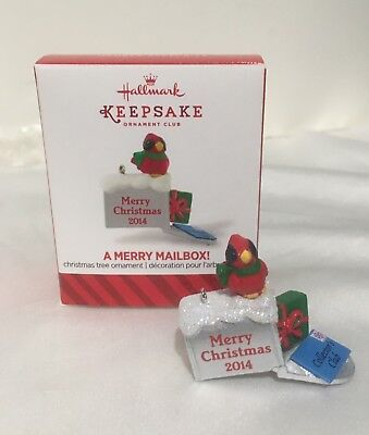 Hallmark 2014 A Merry Mailbox! Local Club Exclusive REPAINT MINIATURE Ornament