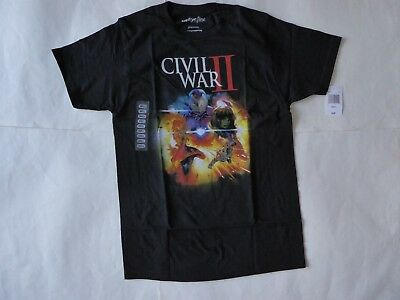 We Love Fine Marvel Graphic Civil War II Iron Man T-Shirt Black Size Small RP$20