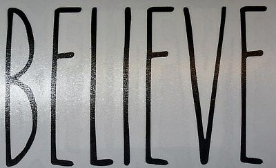 Rae Dunn Inspired Vinyl Decal, Believe, Free Shipping
