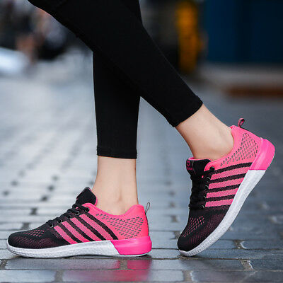 Womens Girls Flyknit Shoes Sports Trainers Athletic Light Weight Lace Up Joggers