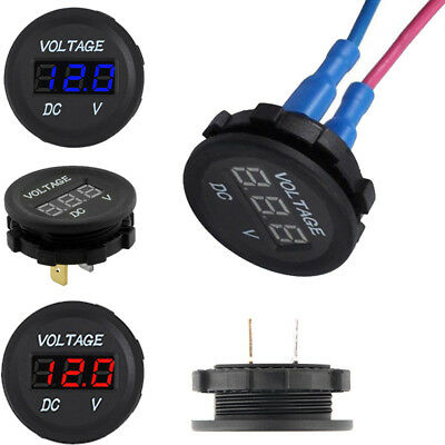 Display Digital Plastic Battery Gauge Motorcycle Voltage Meter Car Voltmeter