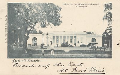 Ned. Antillen 1899: post card Batavia to Forchheim/Germany