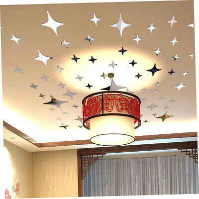 12/43/100pcs Stars Sky Mirror Sticker Wall Ceiling Room Decal Decor Art DIY RF1