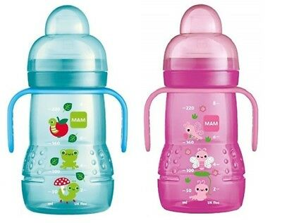 MAM Trainer 2in1 Bottle 220ml 1pk - NEW DESIGN (Choose Yours)