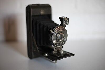 English GREYHOUND ~ Bellows Folding Camera ~ Made in England ~ Excellent!