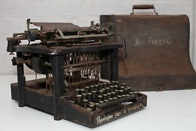 Rare Antique Reming Standard No 7 - Blind Writer - With the original case. 1900