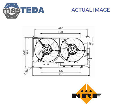 Nrf Engine Cooling Radiator Fan 47030 P New Oe Replacement