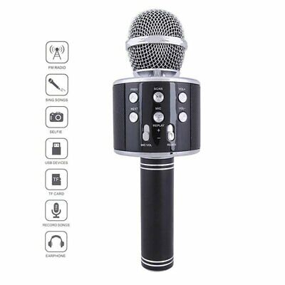Handheld KTV Microphone Bluetooth Karaoke Home Mic Speaker Player Kid Gifts