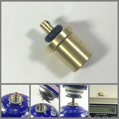 Gas Refill Adapter Cylinder Coupler Pneumatic Valve Butane Tank Connector