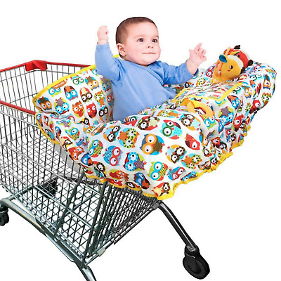 Grocery Cart Cover For Baby & Toddler Shopping Floppy Seat & High Chair 2in1