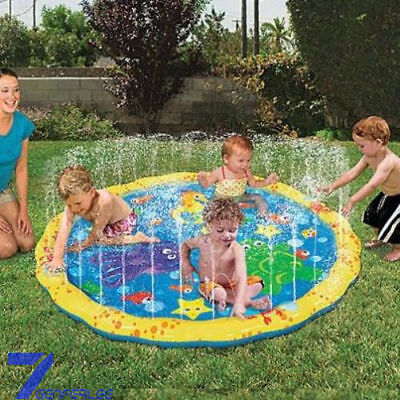 Outdoor Water Play Mat Sprinkler Kids Toy Activity Toddlers Baby Pool Fun New AU