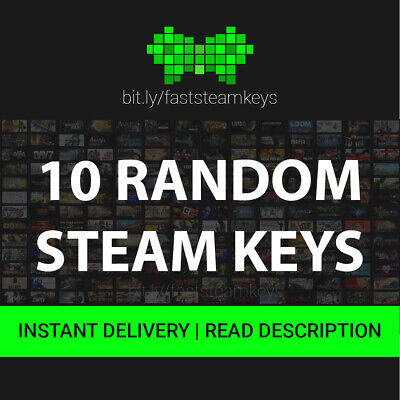 10 Random Steam Game Keys / FREE REGION / GLOBAL KEY /  INSTANT DELIVERY