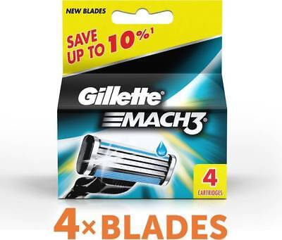 Gillette Mach3 Pack Of 4 Cartridges Shaving Blades For Razor New Mach 3 Germany