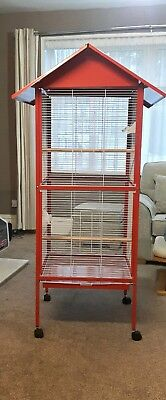 New Bird and Parrot Cage for Finches, Cockatiels, Conures and African Greys