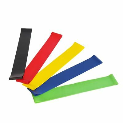 Resistance Loop Bands Yoga Crossfit Fitness Pilates Exercise Workout Set of 5
