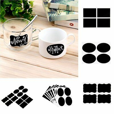 36PCS Blackboard Chalk Board Stickers Craft Self-adhesive DIY Wall Jar Labels RF