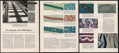 Technology APR 1949 Textiles New Fiber Coatings Magazine 8-page Article