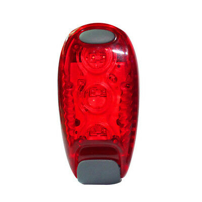 LED Light Up Safety Clip on Running Jogging Night Bike Bicycle Rear Light 1Pc