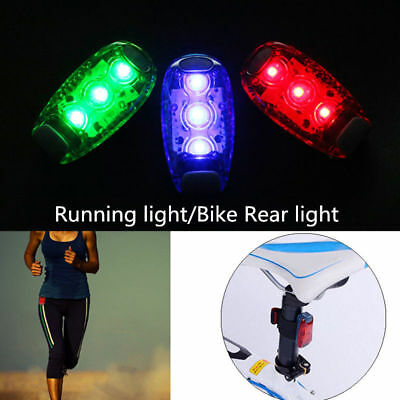 3 LED Light Clip on for Running Bike Rear Lamp Cycling Jogging Safety Warning