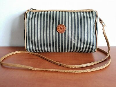 1cfbaaf9bbf4 AUTHENTIC FENDI VINTAGE Striped Crossbody Shoulder Bag -  75.00 ...